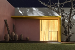 JAMES CASEBERE, Yellow Overhang with Patio, 2016