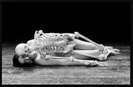 MARINA ABRAMOVIC Self Portrait with Skeleton, 2003