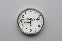 JOSEPH KOSUTH 'Quoted Clocks #16', 2020
