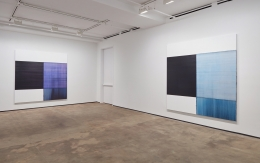 Installation view of Callum Innes, With Curve at Sean Kelly, New YorkMarch 17 - April 29, 2017Photography: Jason Wyche, New YorkCourtesy: Sean Kelly, New York