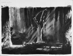Travel (Deep Forest), 2020, China ink