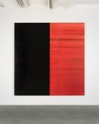 Untitled Lamp Black / Crimson Lake, 2019, oil on linen