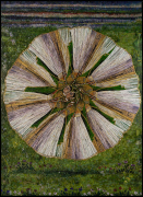Arose, 2020, glass mosaic with patinated brass frame