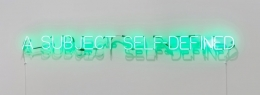 'Self Defined Subject', 1966, green neon mounted directly on the wall
