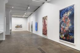 Installation view of Shahzia Sikander: Weeping Willows, Liquid Tongues at Sean Kelly, New York