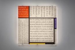 JOSEPH KOSUTH 'Mondrian's Work XII', 2016