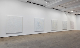 Installation view of Hugo McCloud: Veiled at Sean Kelly, New York