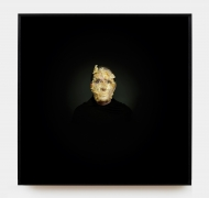 MARINA ABRAMOVIC, Portrait with Golden Mask, 2009