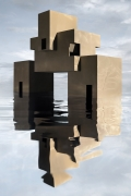 Brutalist House on Water , 2019, framed archival pigment print mounted to dibond