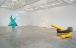 Installation view of Mark Handforth at Kayne Griffin Corcoran, Los Angeles