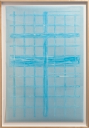 Giulia Piscitelli Venice Window #9, 2012 Nitro thinner on light blue polyester graph paper 57 x 39 ¼ inches