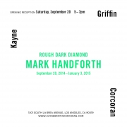Exhibition announcement for Mark Handforth at Kayne Griffin Corcoran, Los Angeles