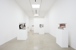 "Installation view of ""Beverly Pepper: New Particles From The Sun"" at Kayne Griffin Corcoran, Los Angeles"