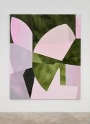 Sarah Crowner Sliced Dusk (Lilacs, Greens), 2018