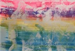 Hank Willis Thomas Vivid Imagination (rainbow on blue) (variation without flash), 2019
