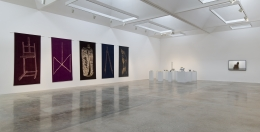 "Installation view of ""Giulia Piscitelli: Wide Rule"" at Kayne Griffin Corcoran, Los Angeles"
