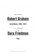 """Exhibition announcement for """"Dara Friedman: PLAY"""" at Kayne Griffin Corcoran, Los Angeles"""