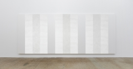 Mary Corse, Untitled (White Multiple Inner Band, Horizontal Strokes)