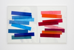 "Hank Willis Thomas ""Interaction of Color"" (Josef Albers diptych) (variation without flash), 2019"