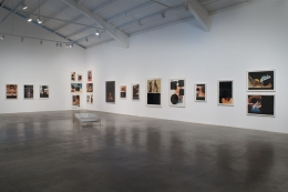 "Installation view of ""Aida Ruilova: I'm So Wild About Your Strawberry Mouth"" at Kayne Griffin Corcoran, Los Angeles"