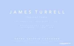 James Turrell exhibition announcement