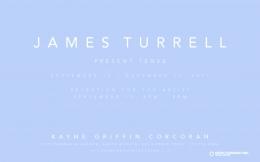 James Turrell exhibition announcement
