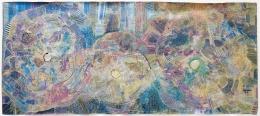 Huguette Caland Big Blue II, 2010
