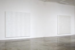 Installation view of Mary Corse: Then and Now at Kayne Griffin Corcoran, Los Angeles