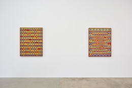"Installation view of ""Tatsuo Kawaguchi: Early Work 1964-1975"" from Kayne Griffin Corcoran, Los Angeles"