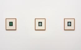 From the Guggenheim, Set 1, Green, Large Vertical, 2015, Unique archival in jet, artist designed frame