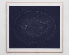 James Turrell  2013 Site Plan Blueprint, 2013