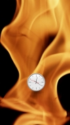 Michel Bell Smith, Flames Clock (Down)