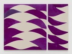 Sarah Crowner, Stretched Violets, 2021