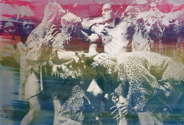 Hank Willis Thomas Vivid Imagination (rainbow on blue) (variation with flash), 2019