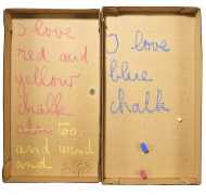 Robert Filliou, Autobiographical Element: I Love Chalk, 1973