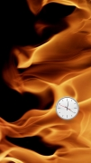 Michel Bell Smith, Flames Clock (Left)