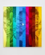 "Hank Willis Thomas ""People just like to look at me"" (Spectrum IX) (variation with flash), 2019"