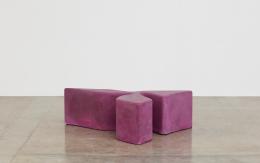 Sarah Crowner Concrete Sculpture, hot pink, 2019