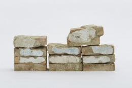 Jimmie Durham, These Twelve Bricks Were Used to Represent the Dawn Sky in Venice, 2015