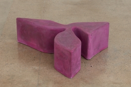 Sarah Crowner Concrete Sculpture, hot pink, 2019