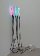 Rosha Yaghmai Inert #1, 2015 Neon, electrical components, transformer 63 1/2 x 7 1/2 x 13 1/4 inches