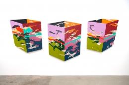 Ron Davis, Three Panels (Block Series)
