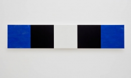 Mary Corse Untitled (Blue, Black, White, Beveled), 2010
