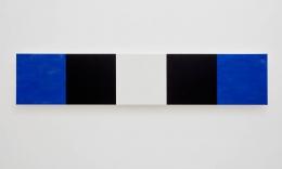 Mary Corse Untitled (Blue, Black, White, Beveled), 2010