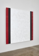 Mary Corse, Untitled (Red, Black, White, Beveled), 2015