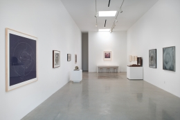 """Installation view of """"James Turrell: Sooner Than Later, Roden Crater"""" curated by Richard Andrews at Kayne Griffin Corcoran, Los Angeles"""