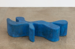 Sarah Crowner Concrete Sculpture, blue, 2019