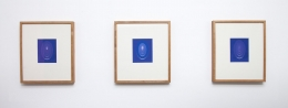 James Turrell From the Guggenheim, Set M, Blue Small Vertical, 2013