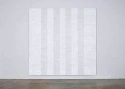 Mary Corse, Untitled (White Multiband, Beveled), 2011