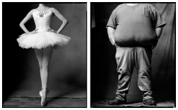 Ballerina / Trucker, 2002 / 2004, 20 x 32-1/2 Diptych, Archival Pigment Print, Ed. 20